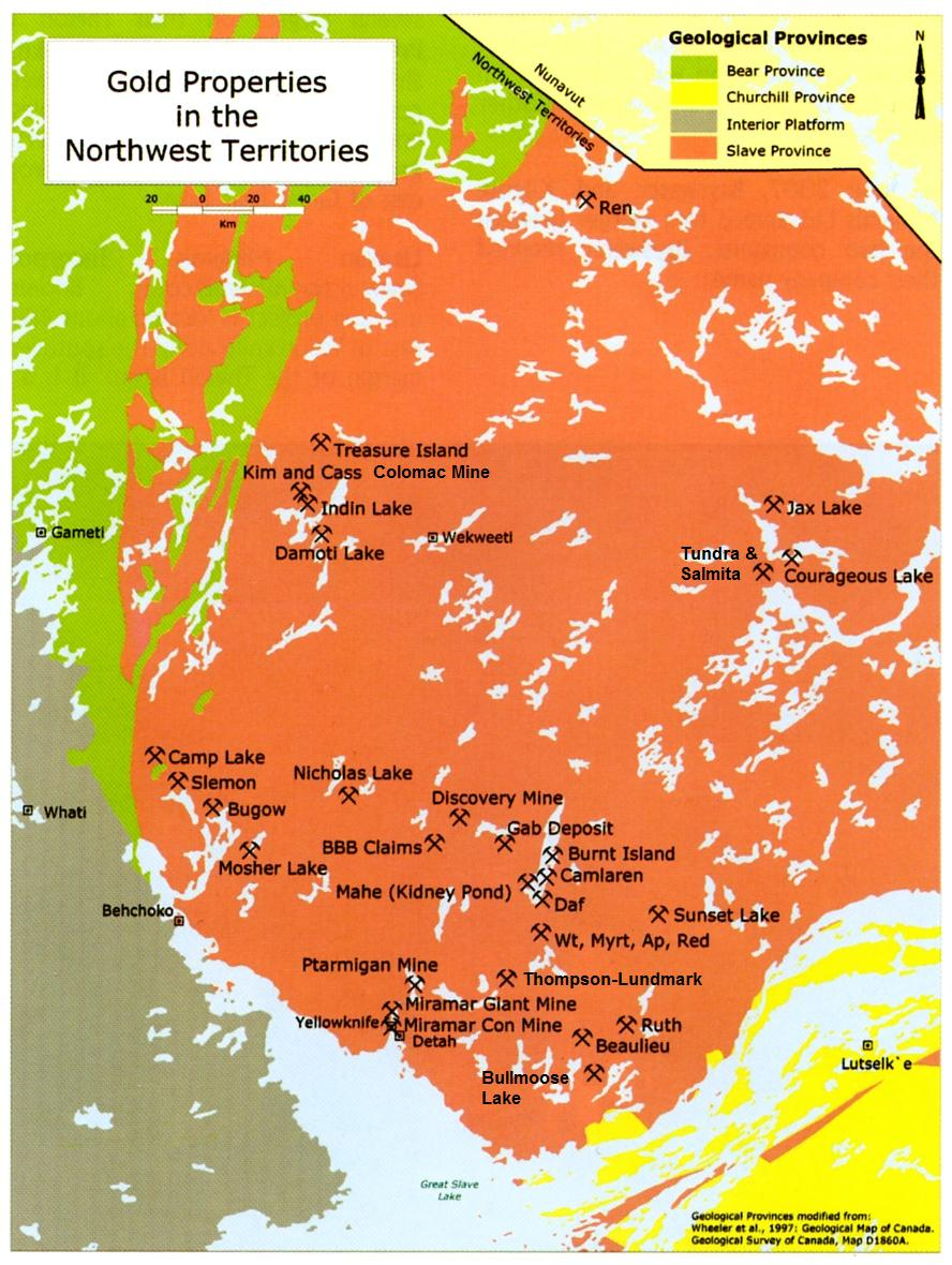 Map Of Canada Yellowknife.Resources Nwt Nunavut Chamber Of Mines
