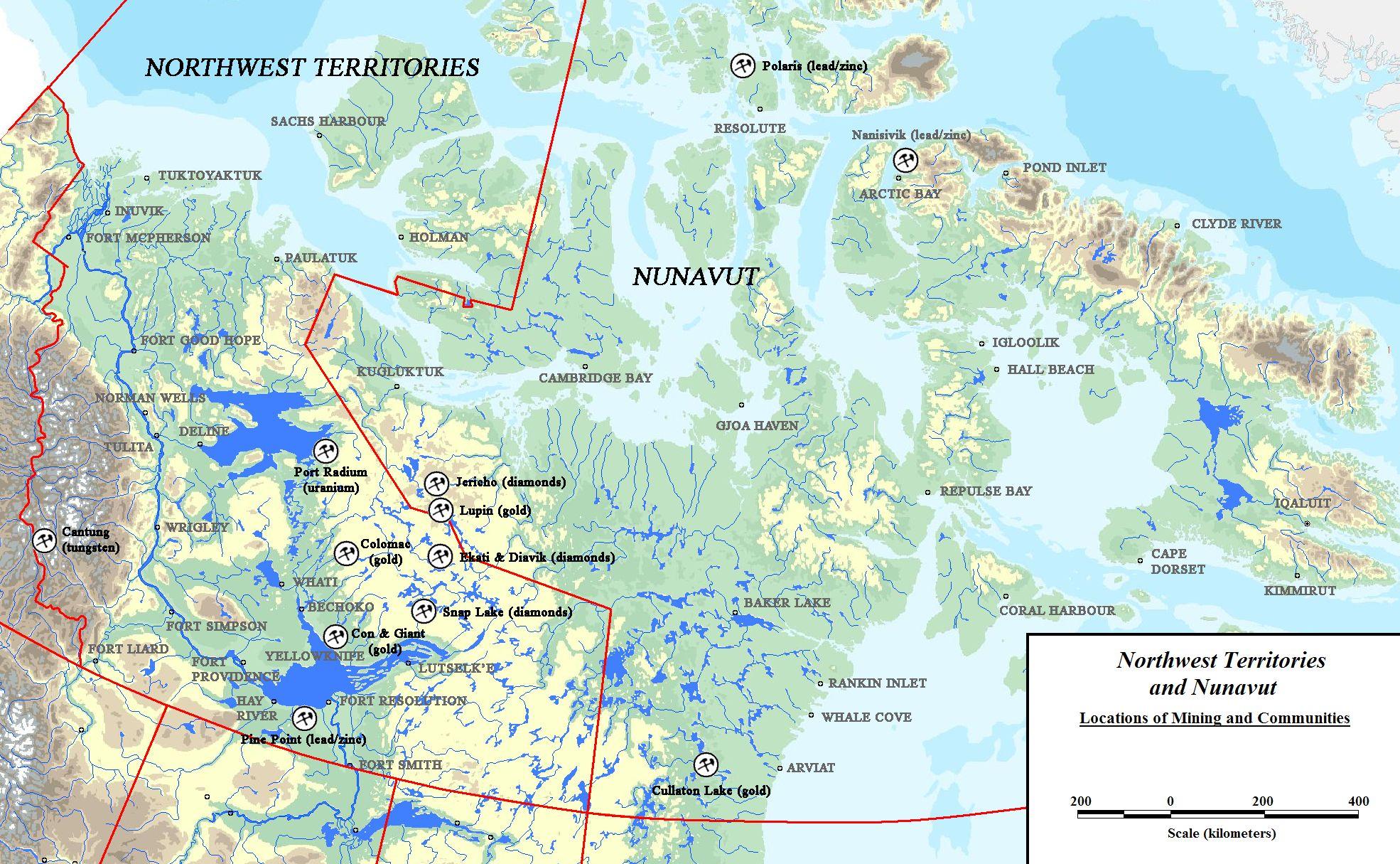 Nwt nunavut mining regulations in canada